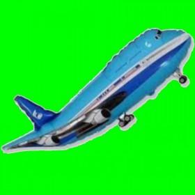 Balon samolot niebieski
