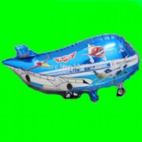 Balon samolot niebieski-samolociki
