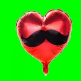 balon-serce-wąsy