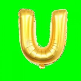 balon litera-U złoty
