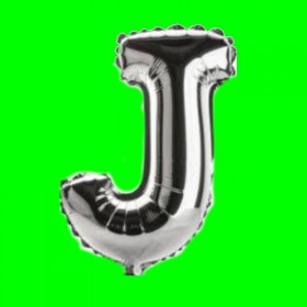balon-litera-J-srebrny