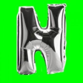 balon -literka-N-srebrna