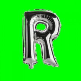 balon-litera-R-srebrna