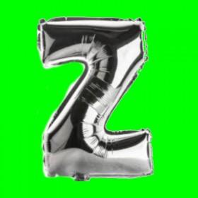balon-litera-Z-srebrna
