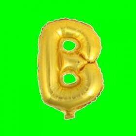 balon-litera-B-zloto