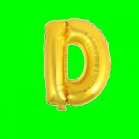 balon-litera-D-złoto