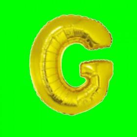 balon-litera-G-złota