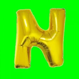 balon-litera-N-złota