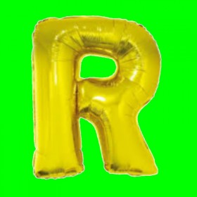 balon-litera-R-złota