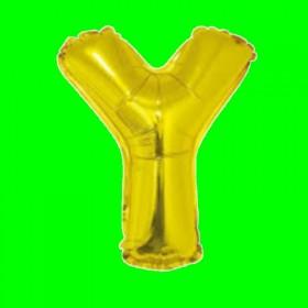 balon-litera-Y-złota