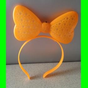 Opaska świecąca kokarda- pomarańcz