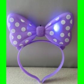 Okulary świecące fiolet-kropki