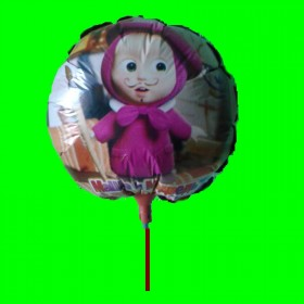 Balon masza z wąsem