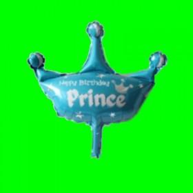 Balon korona niebieska