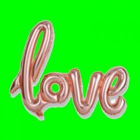 Balon napis love różowe złoto
