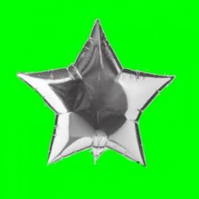 Balon gwiazdka srebrna