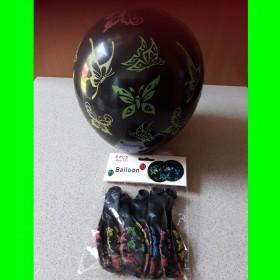 balon-czarny motylki 5 szt