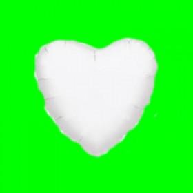 Balon serce białe