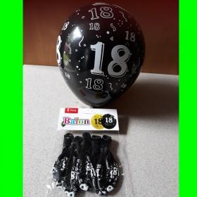 Balon-czarny-18-urodziny