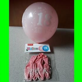 Balon różowy-18-urodziny