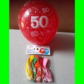 Balon cyfry-50- kolorowe