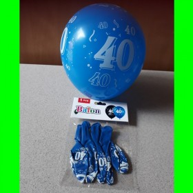 Balon niebieski -40-op 5 szt