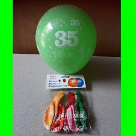 Balon  cyfra-35-op 5 szt