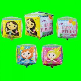 Balon sześcian Happy Birthday