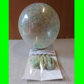 Balon z kolorowymi kulkami w środku (2 sztuki)