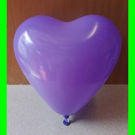 Balon Serce fioletowe -op-100 szt