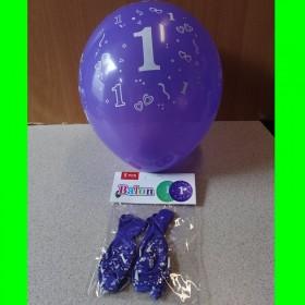 Balon niebieski 1 roczek