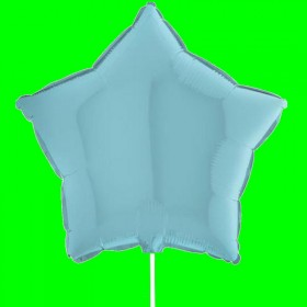 Balon gwiazdka niebieska pastel
