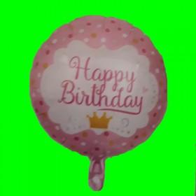 Balon happy róż -korona
