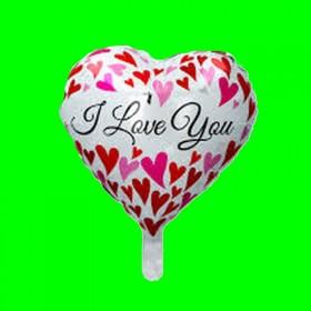 Balon i love you na sercu