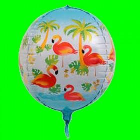 Balon koło -3 D-FLAMING