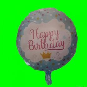 Balon happy niebieski -korona