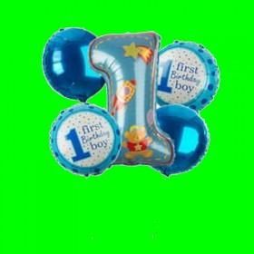 Balony -zestaw 5 szt niebieski