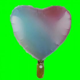 Balon serce -tęcza