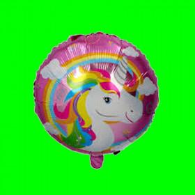 Balon głowa jednorożca rózowy