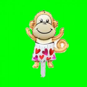 Balon małpka w serduszka