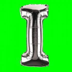 balon-litera-I-srebrny