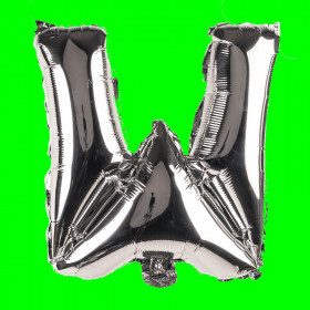 balon-litera-W-srebrna