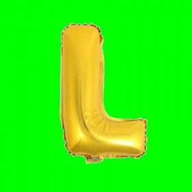 balon-litera-L-złota