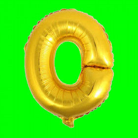 balon-litera-O-złota