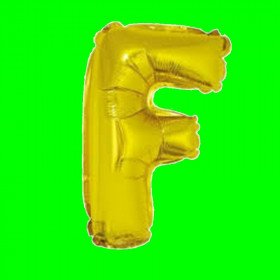 balon-litera-F-złota