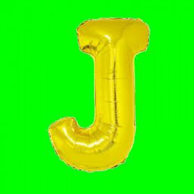 balon-litera-J-złota