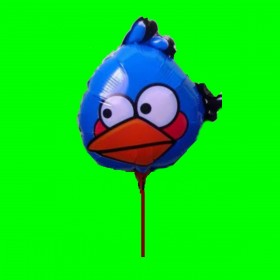 Balon Angry niebieski- 14 cali