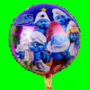 Balon smerfy 18 cali