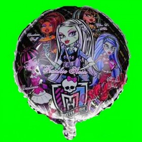 Balon monster-high-czarne 18 cali
