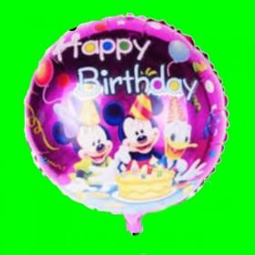 Balon fioletowy donald urodziny-45 cm